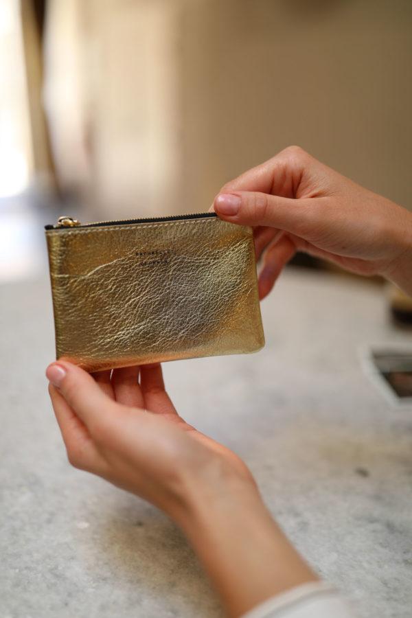 porte-monnaie de qualité en cuir dore fabrique en France